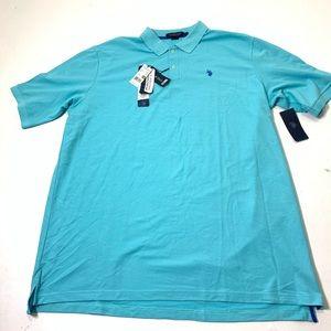 Men's Size 3XLT US Polo Assn. Baby Blue Polo Shirt